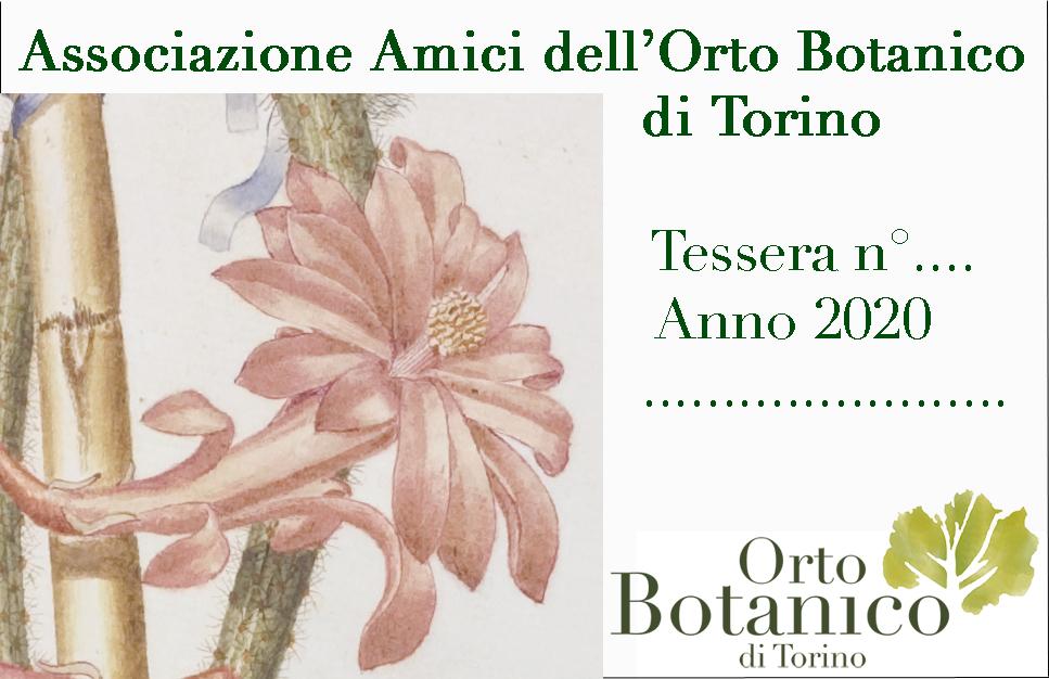 La tessera associativa degli Amici dell'Orto Botanico di Torino