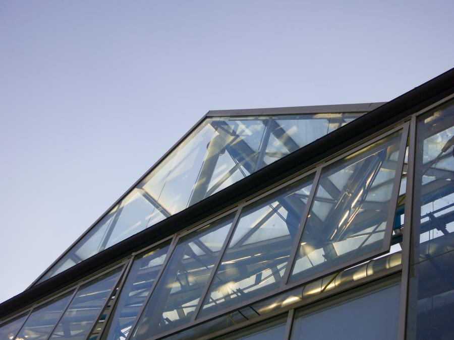 Dettaglio dell'architettura della serra del Sudafrica dell'Orto Botanico di Torino (foto A. Lomagno)