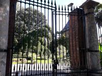 Il cancello di ingresso dell'Orto Botanico di Torino (foto V. Fossa)